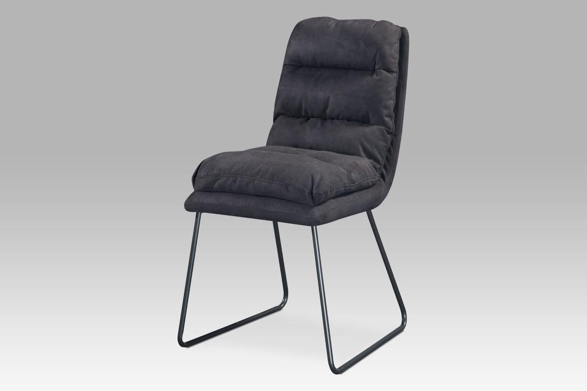 Jídelní židle DCH-255 GREY3, šedá látka/kov šedý