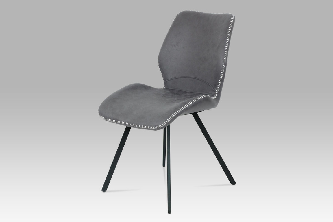 Jídelní židle HC-440 GREY3, šedá látka vintage/kov černý