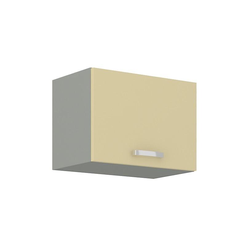 KARMEN, skříňka horní 60 GU-36 1F, šedá / krémový lesk