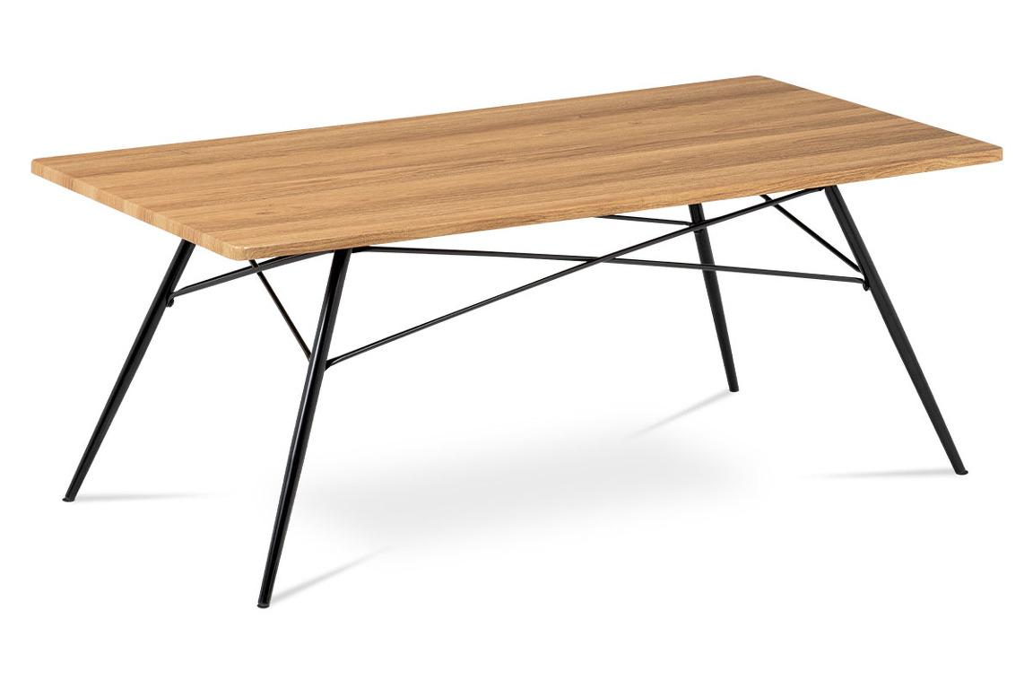 Konferenční stolek AF-2070 OAK, dub/černý mat