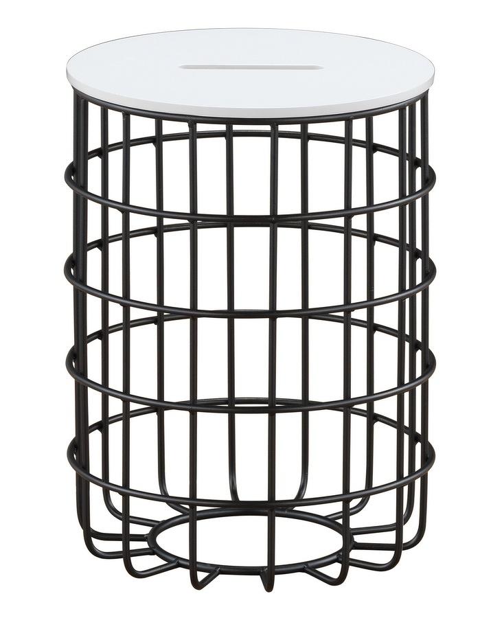 Konferenční stolek FRICI, bílý/černý