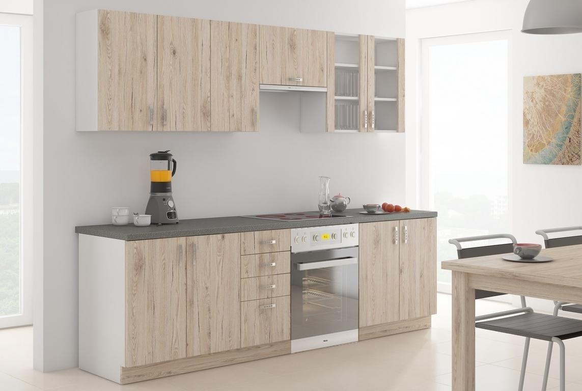 Kuchyně SARA 260, dub Bordeaux