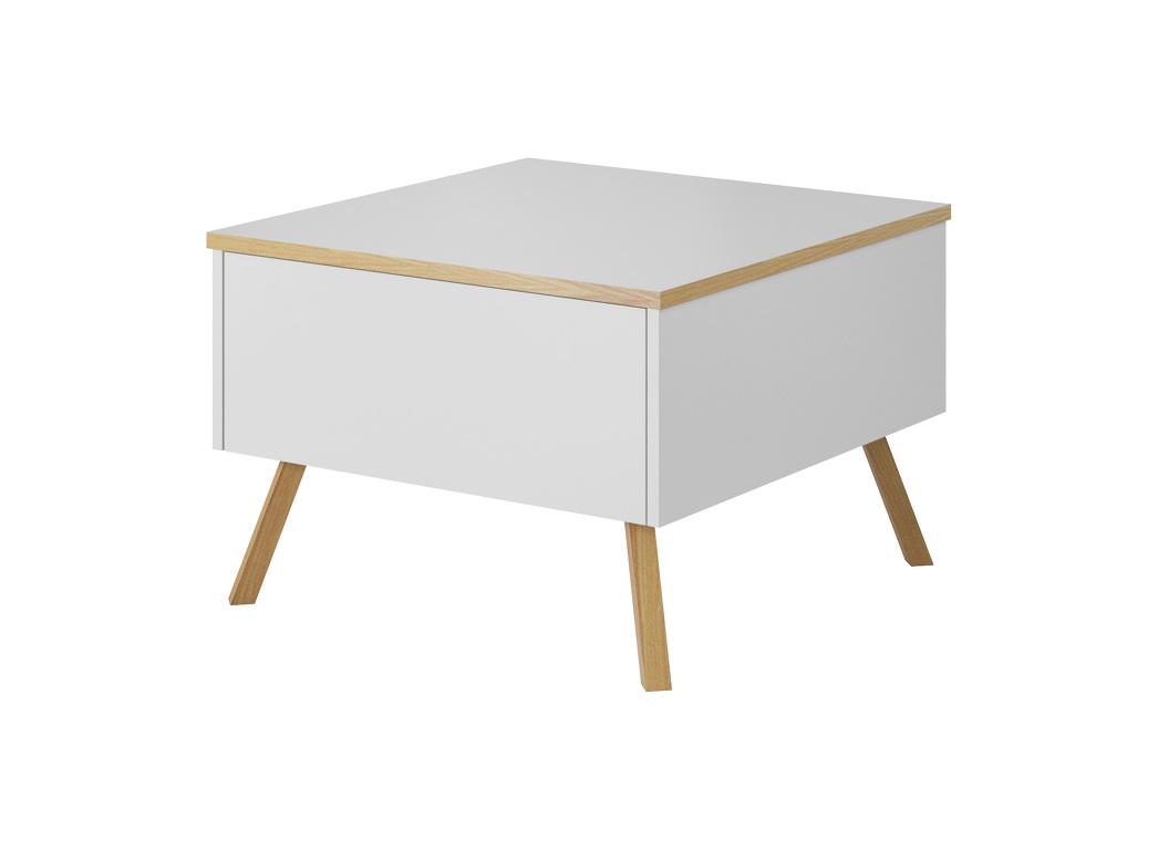 LIMA konfereční stolek, bílá/dub wotan