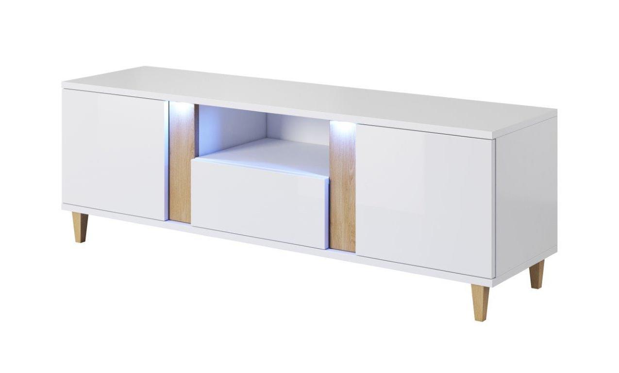 MARCO televizní stolek RTV 150, bílá/dub