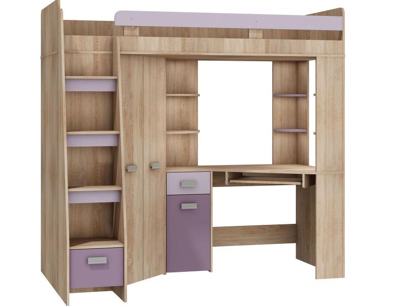 MORAVIA FLAT Multifunkční postel ANTRESOLA levá, barva: