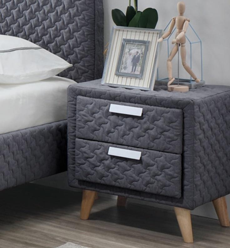 Noční stolek ASTRID, šedý
