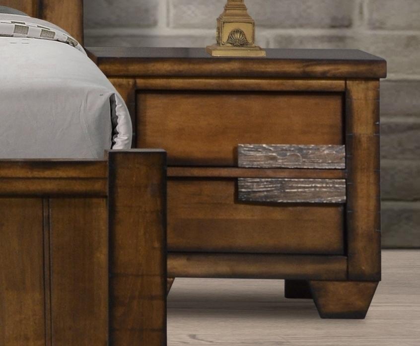Noční stolek IBIZA levý, hnědý