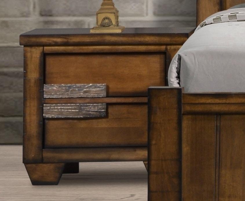Noční stolek IBIZA pravý, hnědý