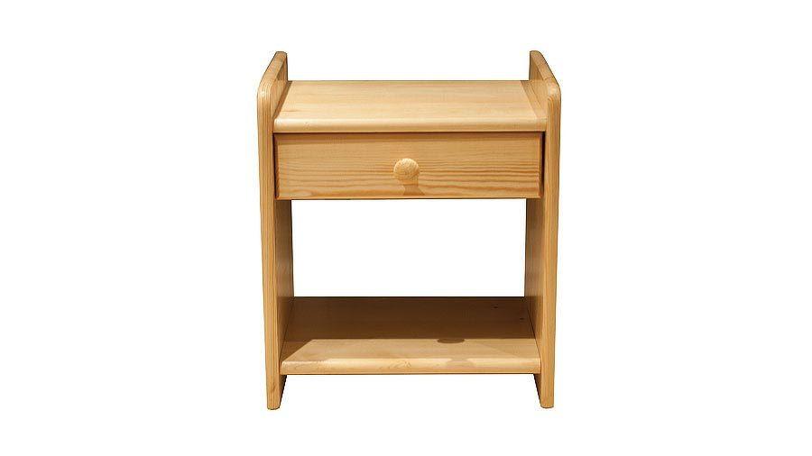 Noční stolek WIKI, masiv borovice, moření: ...