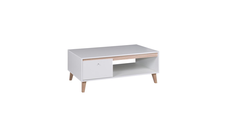 OVIEDO konferenční stolek, bílá//dub san remo světlý