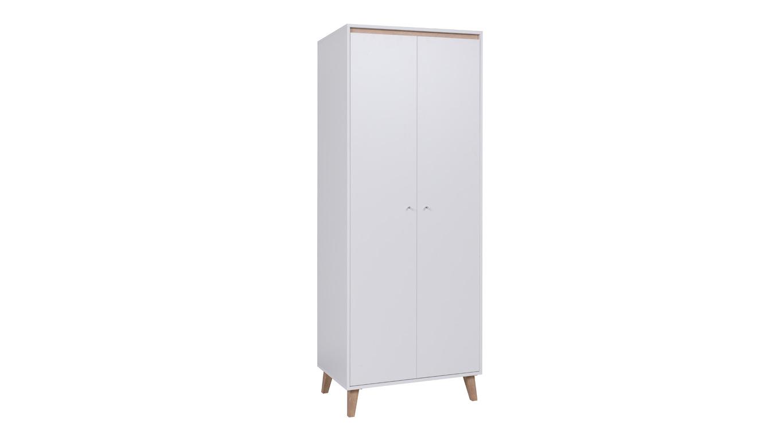 OVIEDO šatní skříň, bílá/dub san remo světlý