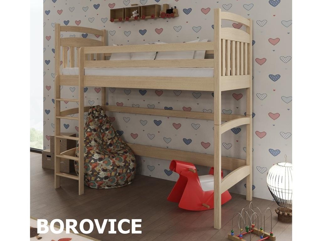 Patrová postel TESS 80x180 cm, masiv borovice