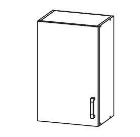 PLATE PLUS horní skříňka G45/72, korpus bílá alpská, dvířka světle šedá