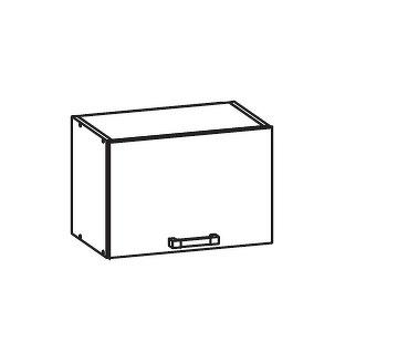 PLATE PLUS horní skříňka GO50/36, korpus ořech guarneri, dvířka bílá perlová
