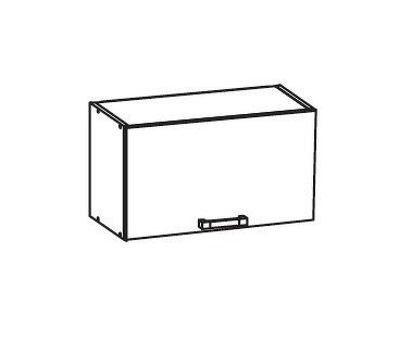 PLATE PLUS horní skříňka GO60/36, korpus šedá grenola, dvířka bílá perlová