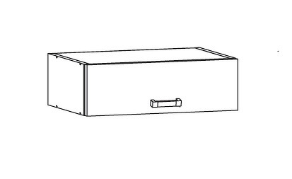 PLATE PLUS horní skříňka NO60/23, korpus ořech guarneri, dvířka bílá perlová