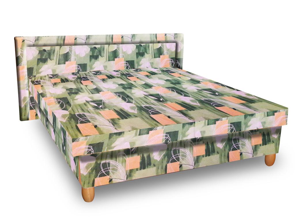 Smartshop Čalouněná postel IVA 120x200 cm, zelená látka