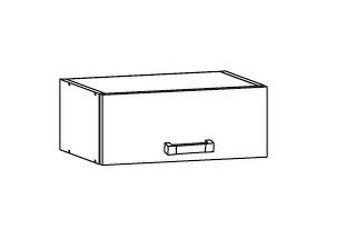Smartshop EDAN horní skříňka NO40/23, korpus congo, dvířka bílá canadian
