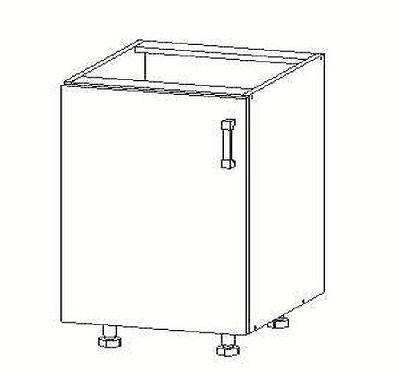 Smartshop PESEN 2 dolní skříňka D45, korpus ořech guarneri, dvířka dub sonoma hnědý