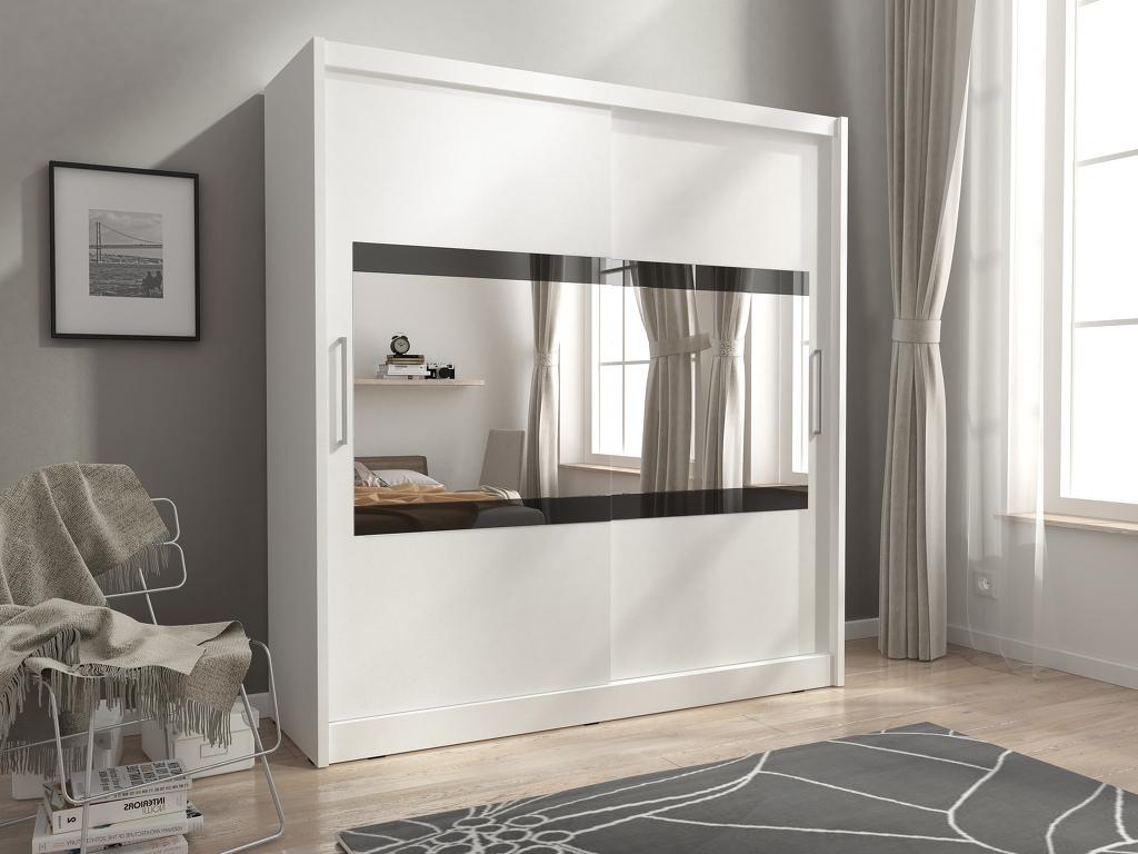 Smartshop Skříň MAJA IV se zrcadlem 200 cm, bílá