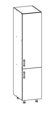 Smartshop TAFNE potravinová skříň D40/207 pravá, korpus congo, dvířka béžový lesk