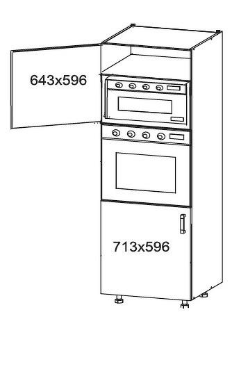 Smartshop TAPO PLUS vysoká skříň DPS60/207, korpus ořech guarneri, dvířka bílý lesk