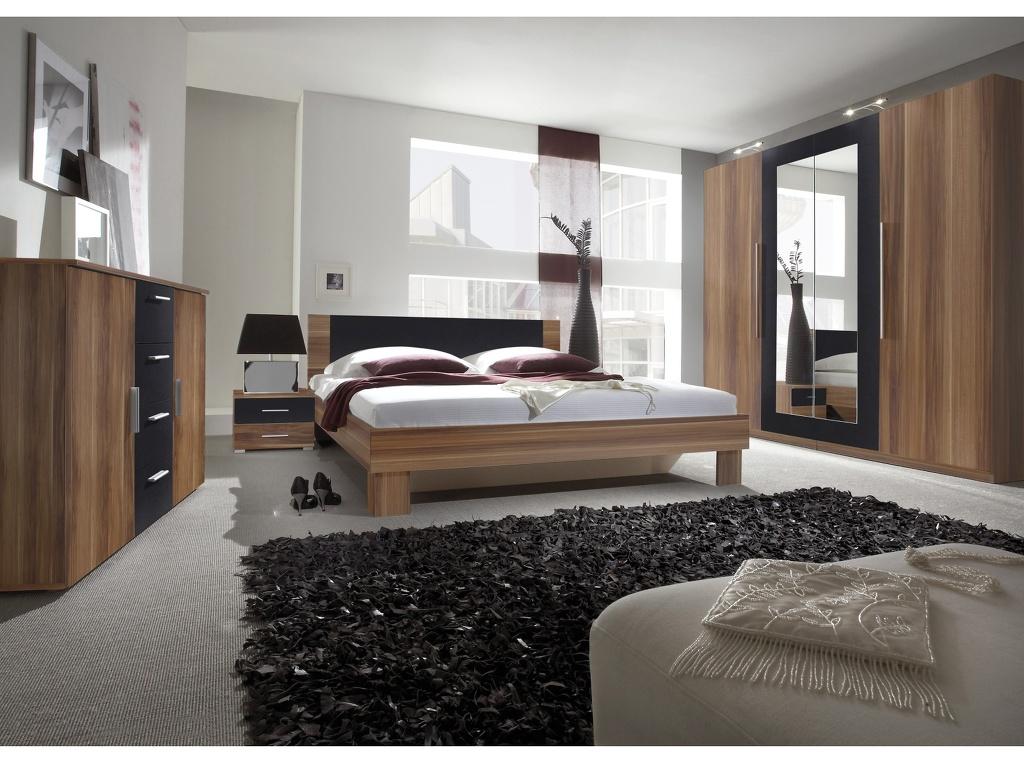 Smartshop VERA ložnice s postelí 160x200, červený ořech/černá