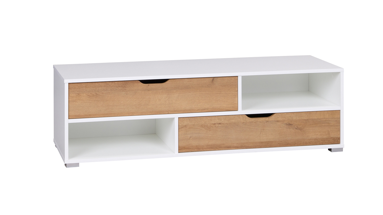 Televizní stolek IWA RTV, bílá/dub zlatý