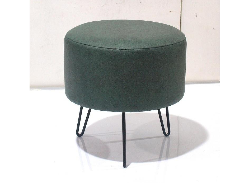 Tempo Kondela OLIA taburet, zelená ekokůže/černý kov