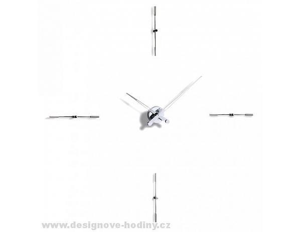 Designové nástěnné hodiny Nomon Merlin Inox 110cm