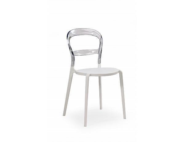 Jídelní židle K100 bílo-čirá