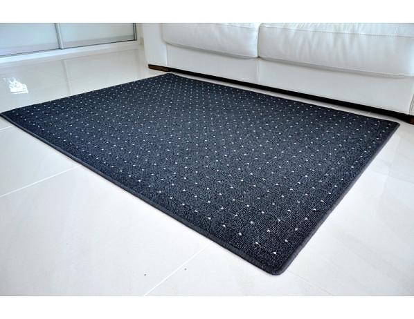 Kusový koberec Udinese antracit, 80x120 cm