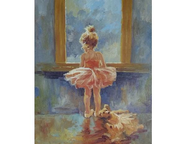 Obraz - Malá baletka, 50x60 cm