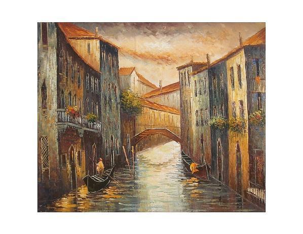 Obraz - Ulice v Benátkách, 50x60 cm