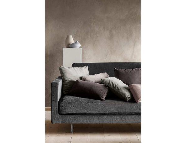 Sametový polštář 45 x 45 cm starorůžový