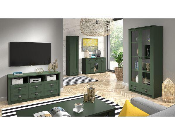 Šatní skříň Provence S2D, zelená