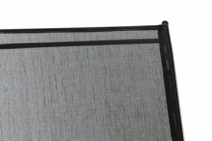 Divero 55672 stohovatelná zahradní židle - černá