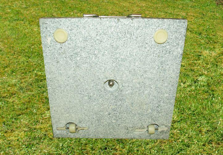 Garthen 1502 Stojan na slunečník - žula / nerezová ocel, 50 kg