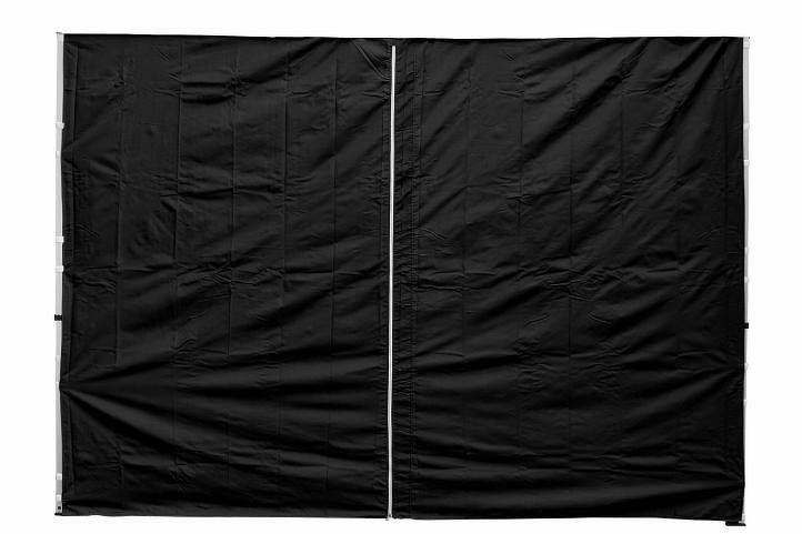 Garthen 30683 Sada 2 bočních stěn pro PROFI zahradní stan 3 x3 m černá