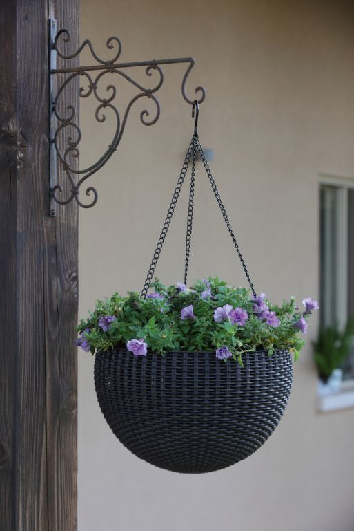 Květináč HANGING SPHERE - hnědý