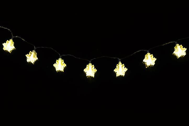 Nexos 1358 Vánoční osvětlení - zimní vločka - teple bílé