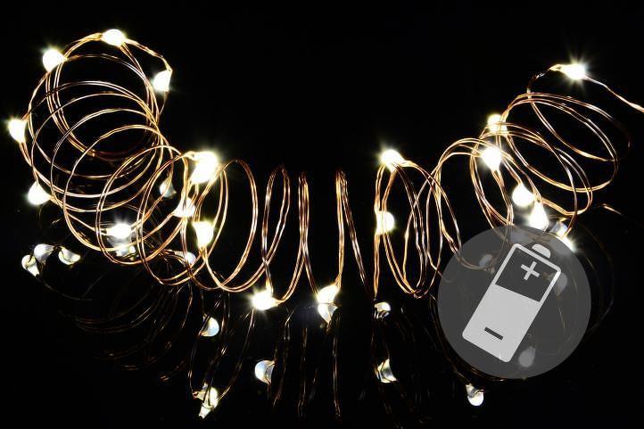 Nexos 42976 Vánoční světelný řetěz - MINI 20LED - teple bílá