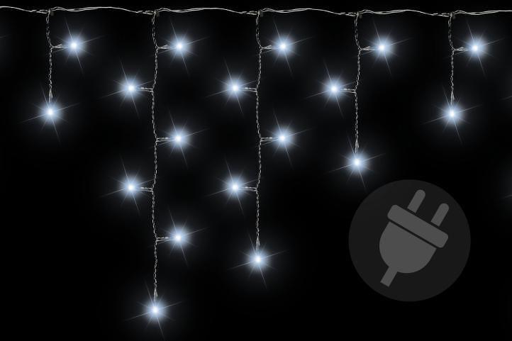 OEM D01160 Vánoční světelný déšť 144 LED studená bílá - 5 m