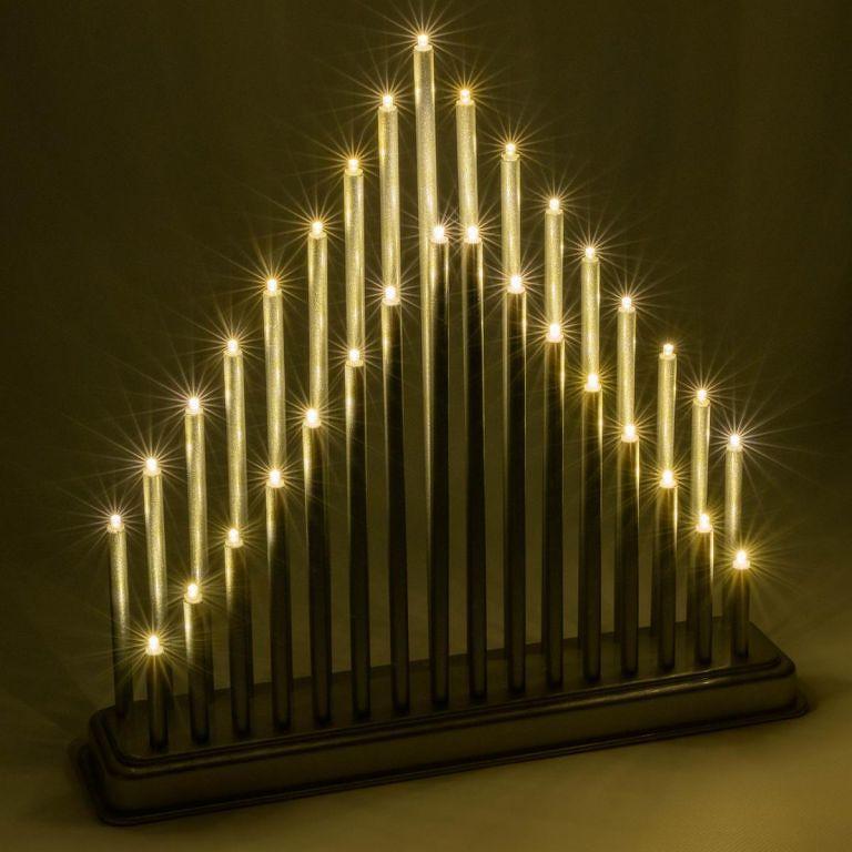 Vánoční dekorace svícen, 33 LED