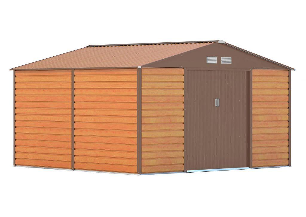 Zahradní domek G21 GAH 1085 - 340 x 319 cm, hnědý
