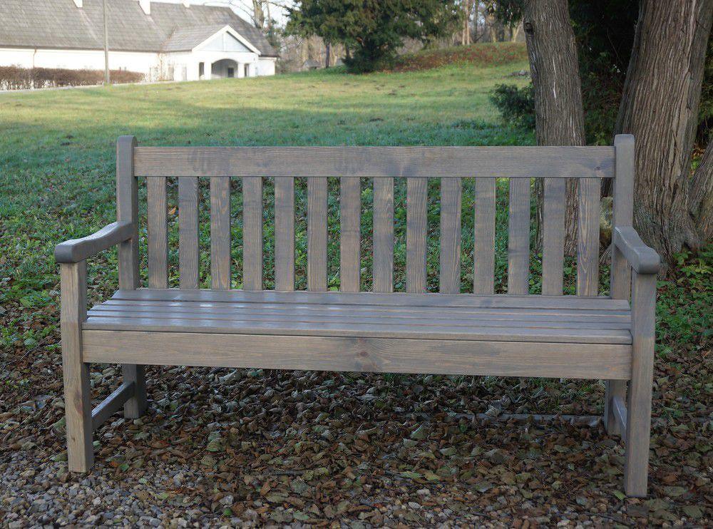 Zahradní lavice LONDON šedá - 150 cm WOOD