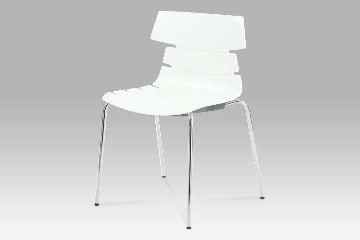 Jídelní židle plastová bílá CT-603 WT