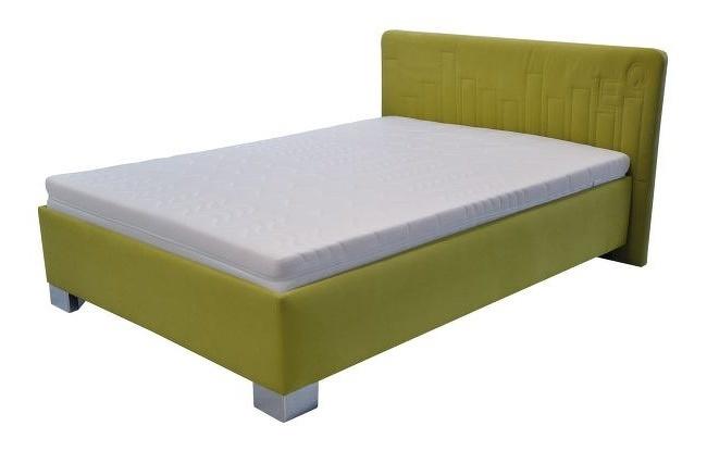 Postel v zelené barvě s matrací 140x200 F1156