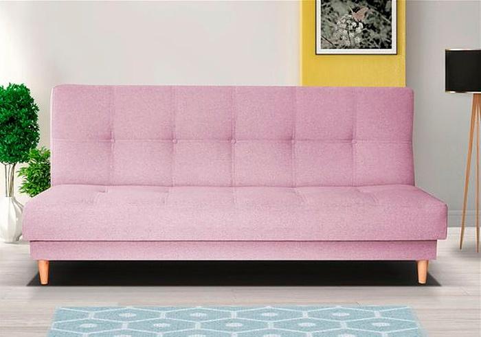 Retro pohovka v růžové barvě F1179