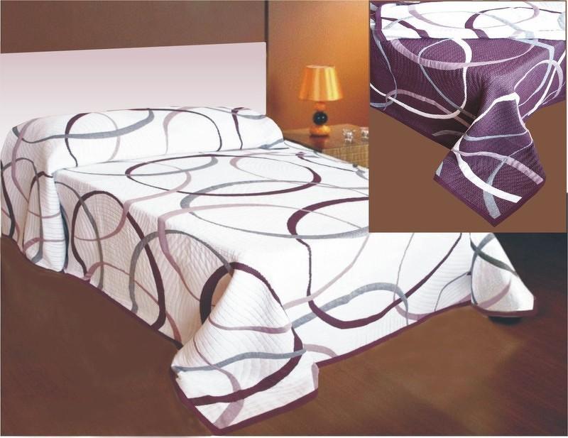 Forbyt  Přehoz na postel, May, fialový 240 x 260 cm